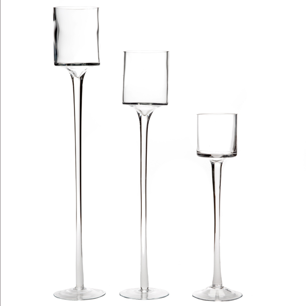 GLASS GOBLET TRIO HOLDER