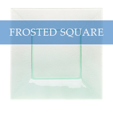 FROSTED SQUARE CHARGER PLATE