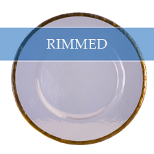 RIMMED CHARGER PLATE