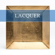 SQUARE LACQUER CHARGER PLATE