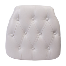 WHITE TUFTED CHIAVARI CHAIR PAD