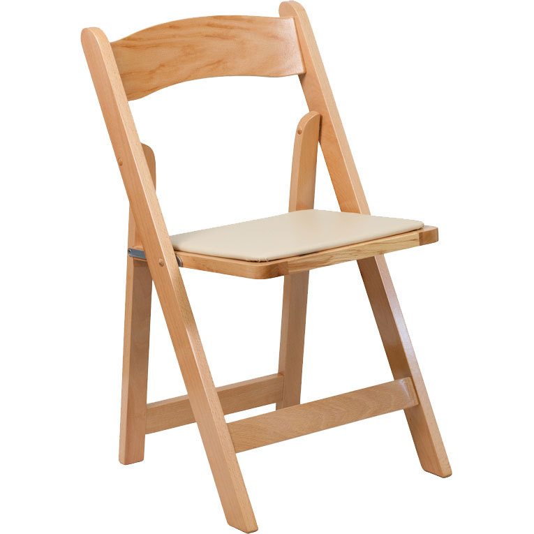 PADDED FOLDING CHAIR, NATURAL