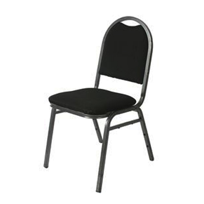 PADDED STACKABLE CHAIR, BLACK