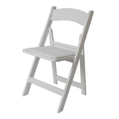 PADDED FOLDING CHAIR, WHITE