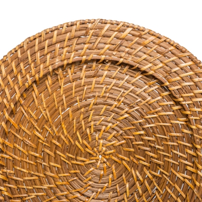 ROUND RATTAN CHARGER