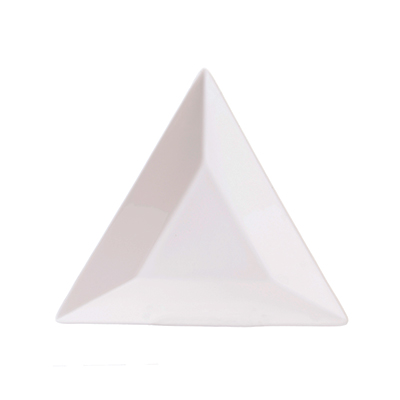 BRIGHT WHITE TRIANGLE PLATE