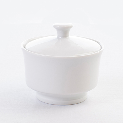 BRIGHT WHITE SUGAR BOWL