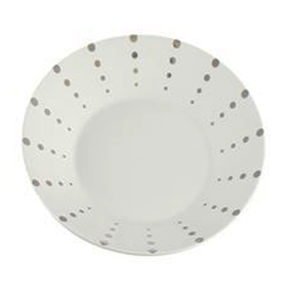 PLATINUM DOT DINNER PLATE