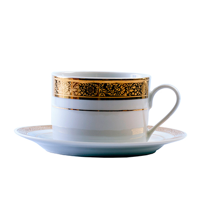 TUSCAN GOLD TEACUP & SAUCER