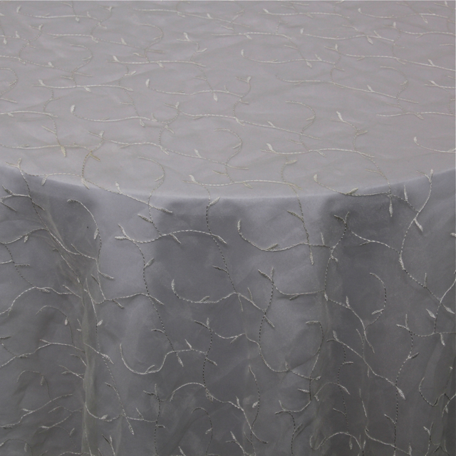 ORGANZA - EMBROIDERED IVORY