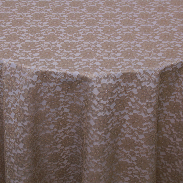 FRENCH LACE TAUPE OVERLAY