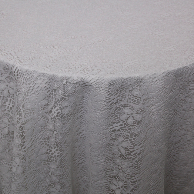 POLYESTER LACE WHITE OVERLAY