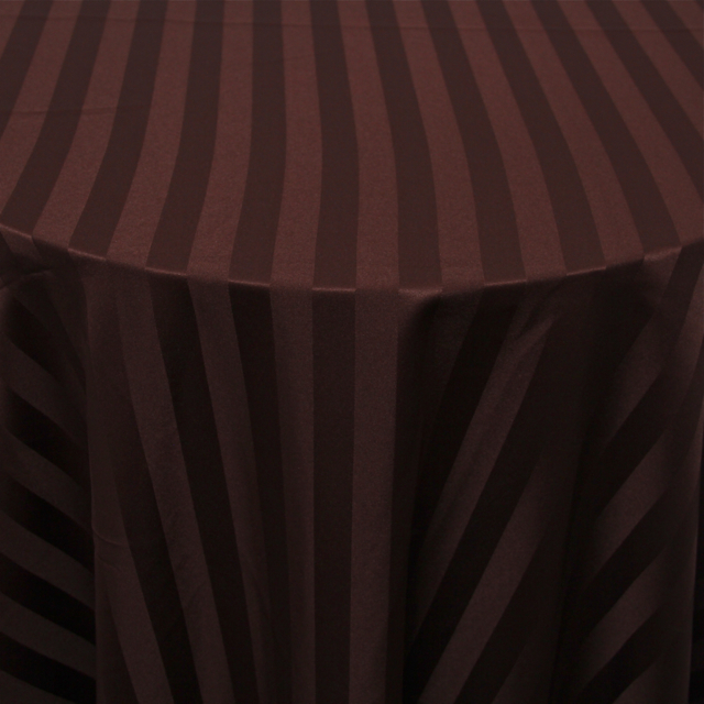 POLYESTER - BROWN STRIPE
