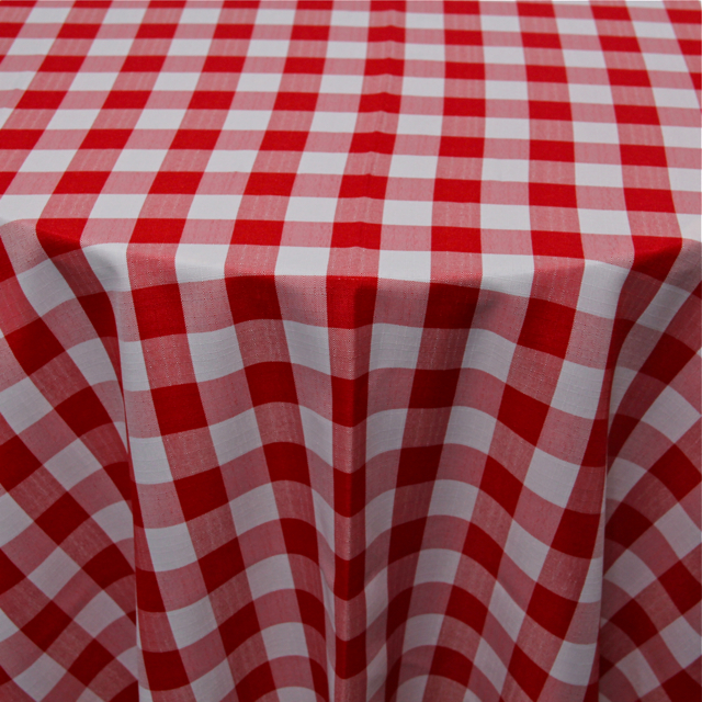 PRINTS - POLYESTER CHECKERED RED