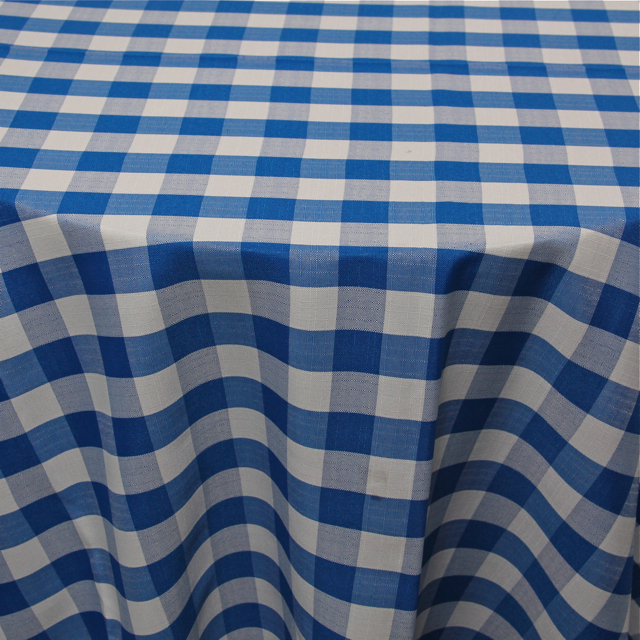 PRINTS - POLYESTER CHECKERED ROYAL