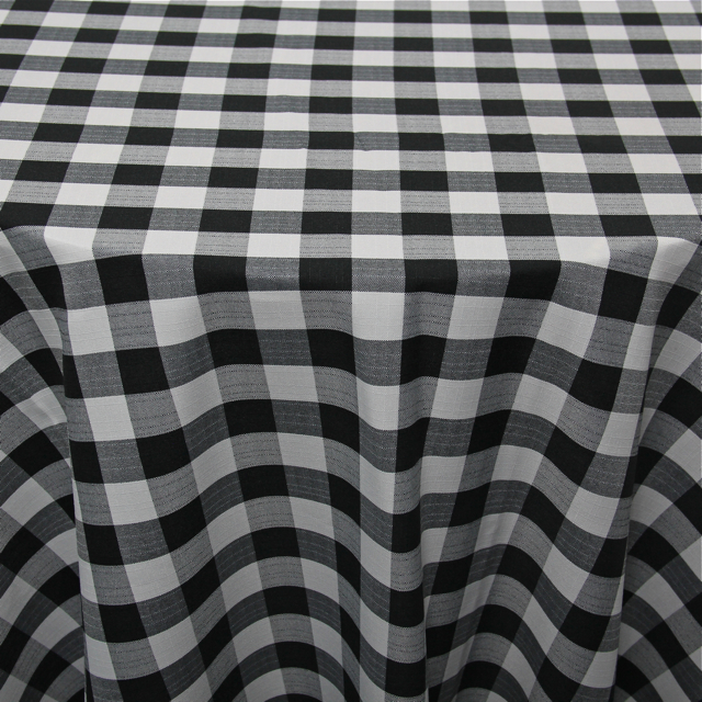 PRINTS - POLYESTER CHECKERED BLACK