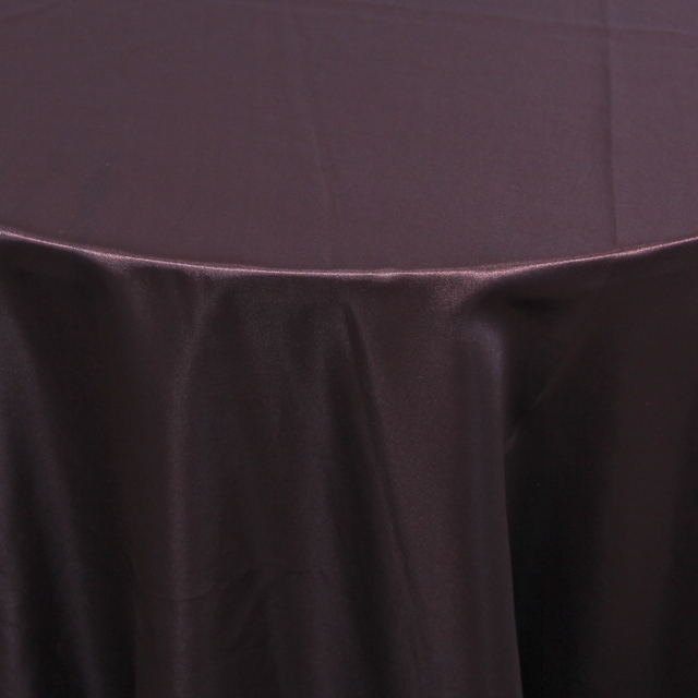 SATIN - POLYESTER BROWN