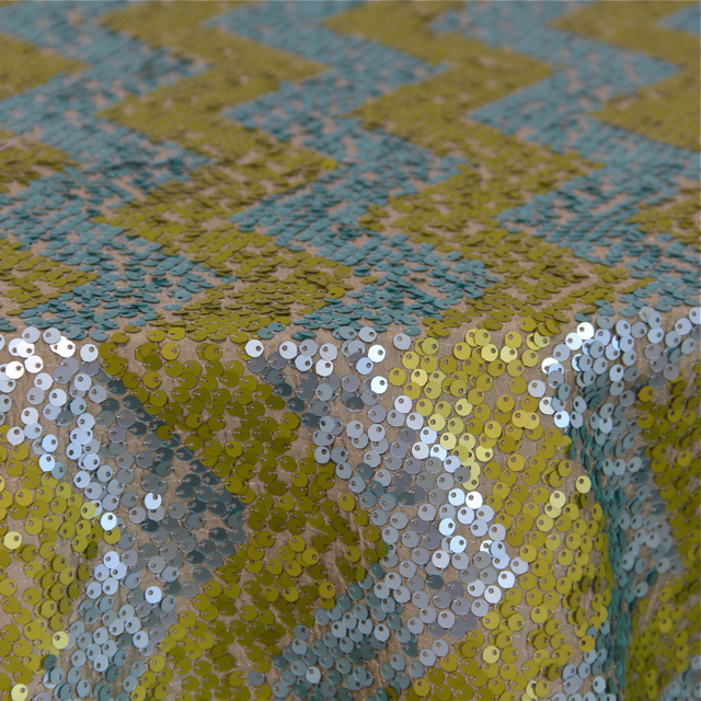 GATSBY CHEVRON APPLE / AQUA SEQUIN