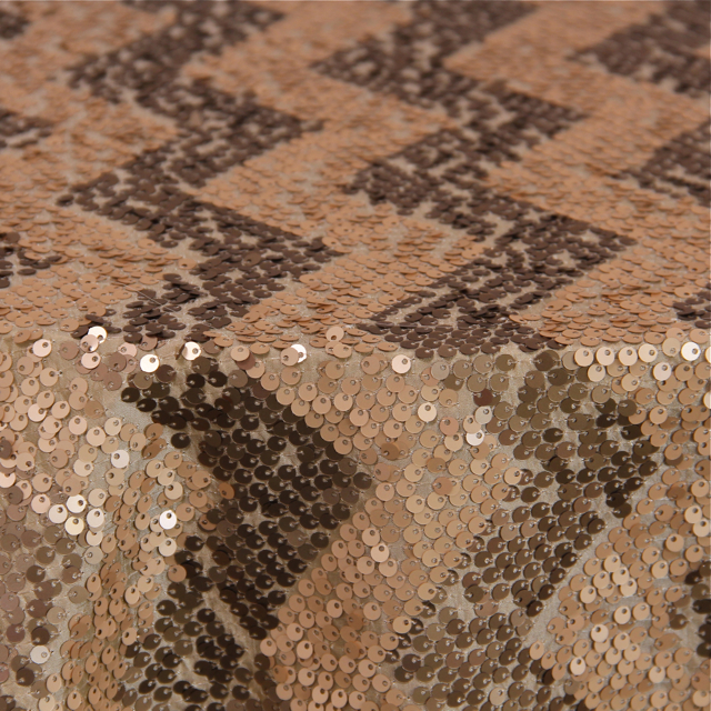 GATSBY CHEVRON CHAMPAGNE / TAUPE SEQUIN