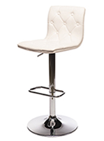 TUFTED JETSON LEATHER BARSTOOL