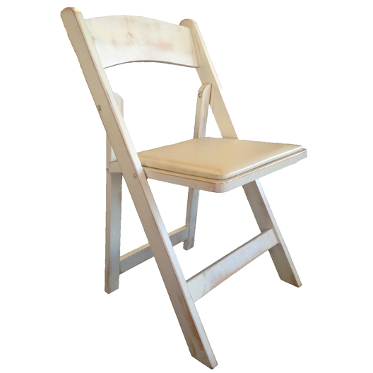 PADDED FOLDING CHAIRS, WHITE