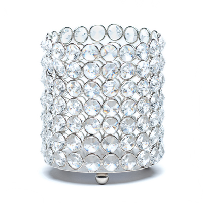 SILVER BLING CANDLE HOLDER