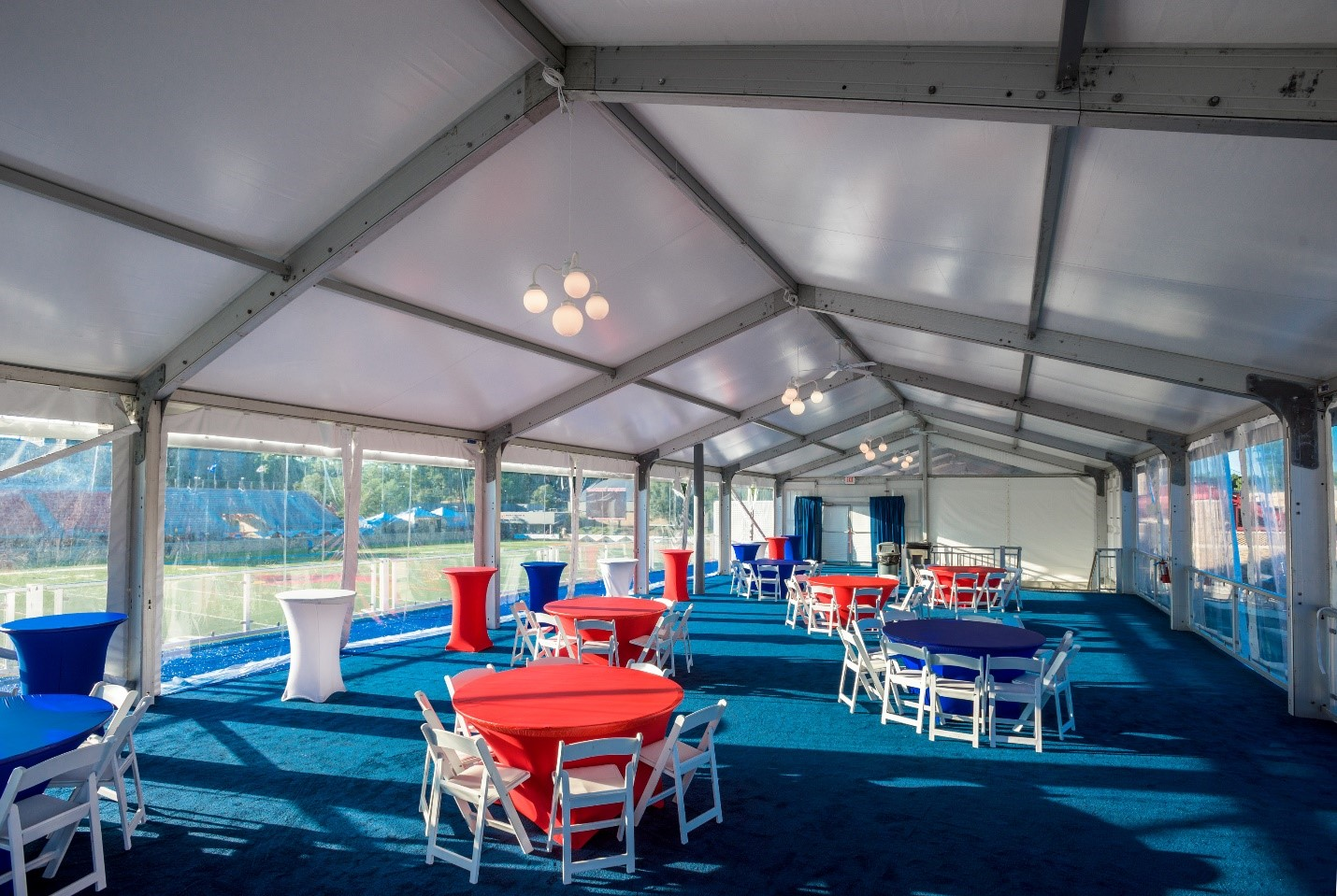 DOUBLE DECKER TENT RENTALS BUFFALO BILLS TRAINING CAMP