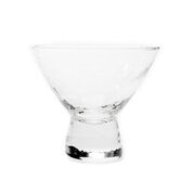 MARTINI 8oz HAMMERED GLASS