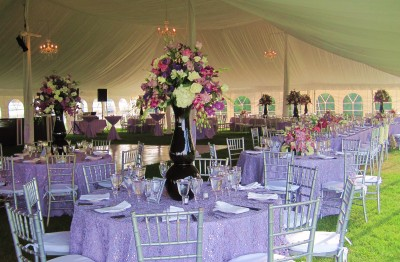 Fairport NY wedding party rental tables chairs AllSeason's Rentals