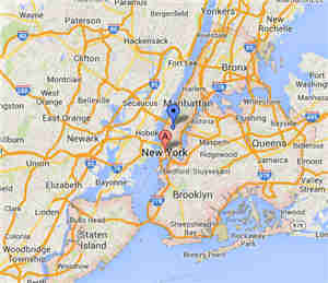 New York City party and tent rentals map