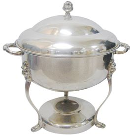 8 QT. ROUND SILVER CHAFING DISH