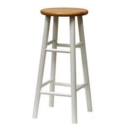 BAR STOOL, NATURAL & WHITE