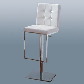 LEATHER TUFTED BAR STOOL