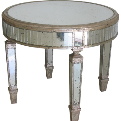 ROUND MIRROR TABLE - SMALL