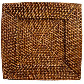 SQUARE RATTAN CHARGER
