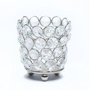 SILVER BLING VOTIVE HOLDER